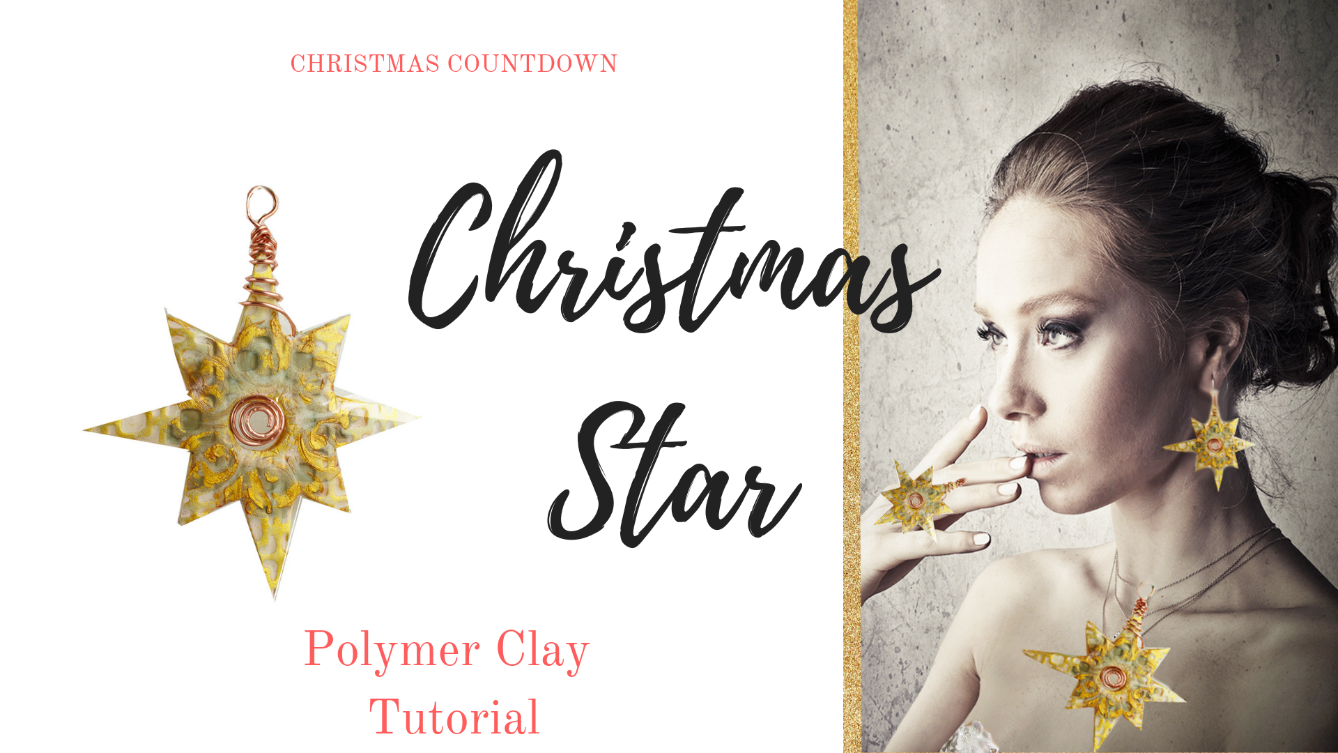 Christmas Star Polymer Clay Tutorial
