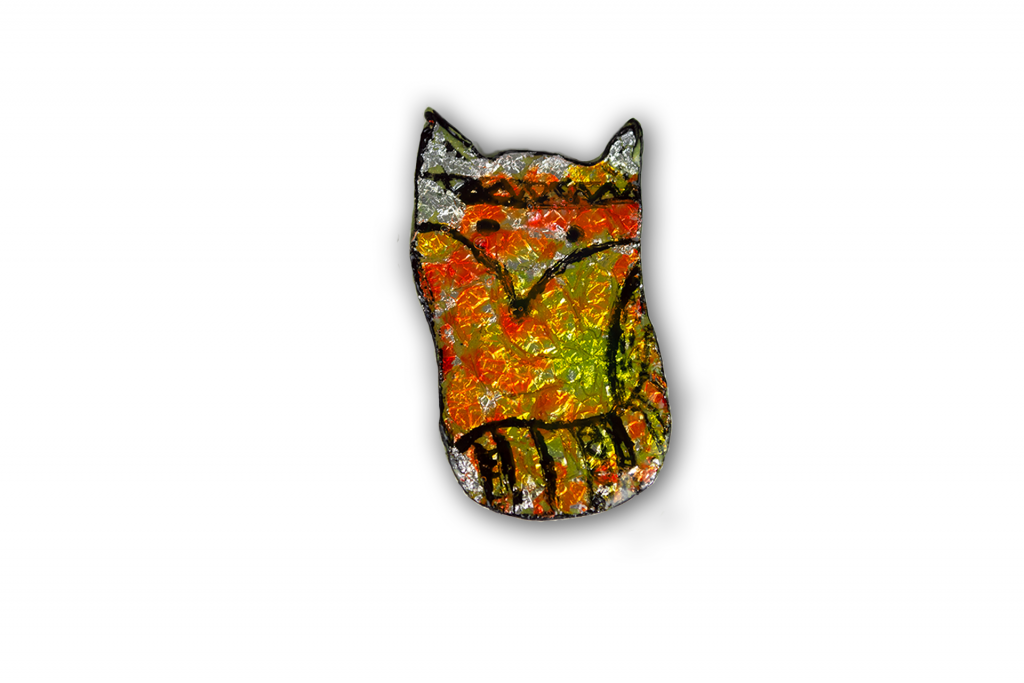 Use your Scrap Clay Challenge - day 4 - Faux stained -glass fox