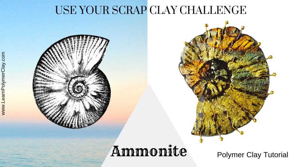 Use your scrap clay challenge - Ammonite