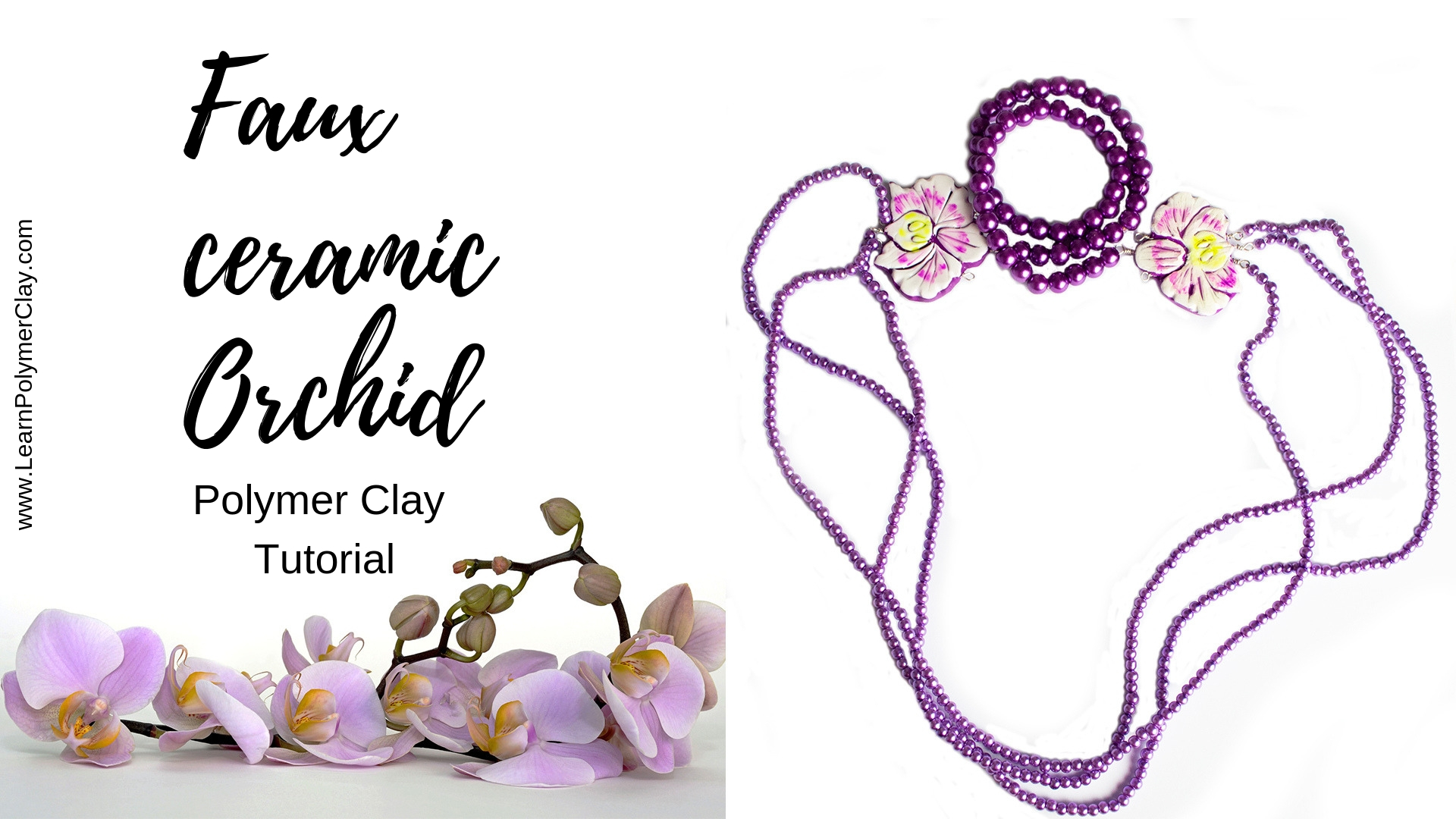 Orchid polymer clay tutorial or using images to make working with polymer clay easier