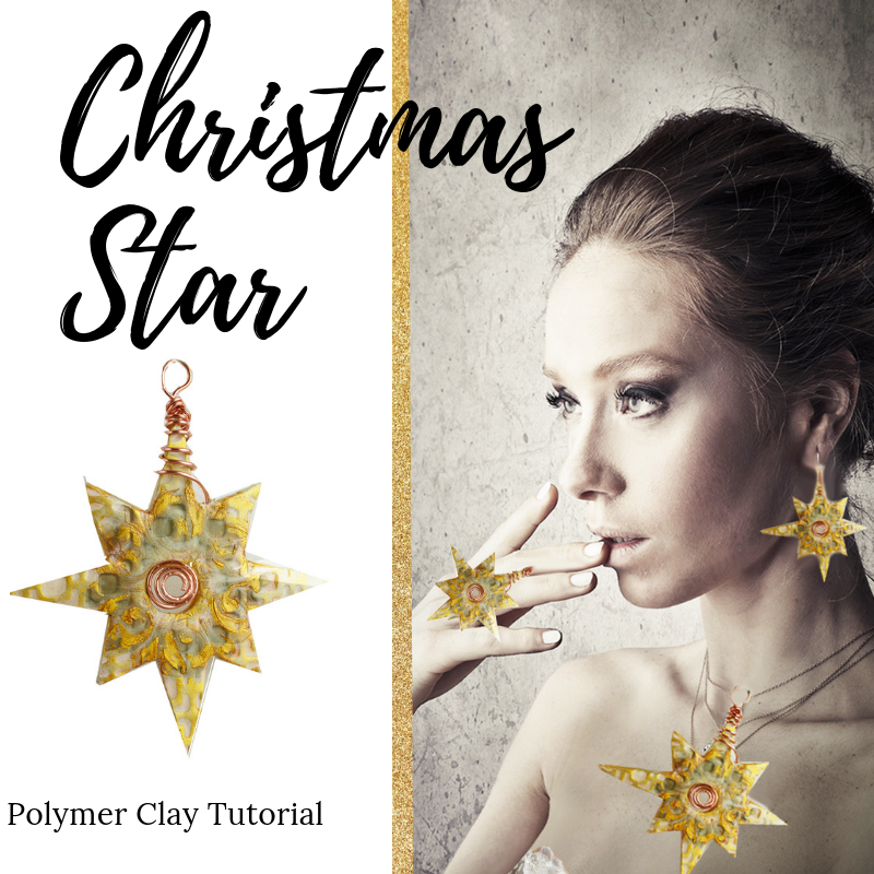 {Polymer Clay Christmas Countdown} – Day 6 – Christmas Star Polymer Clay Tutorial