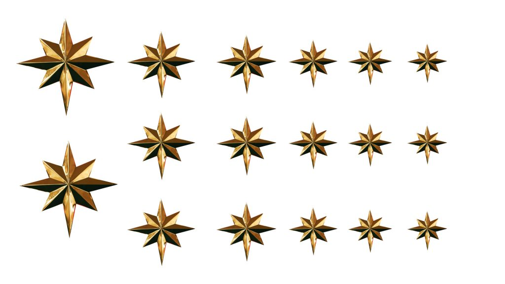 Christmas Star template for polymer clay
