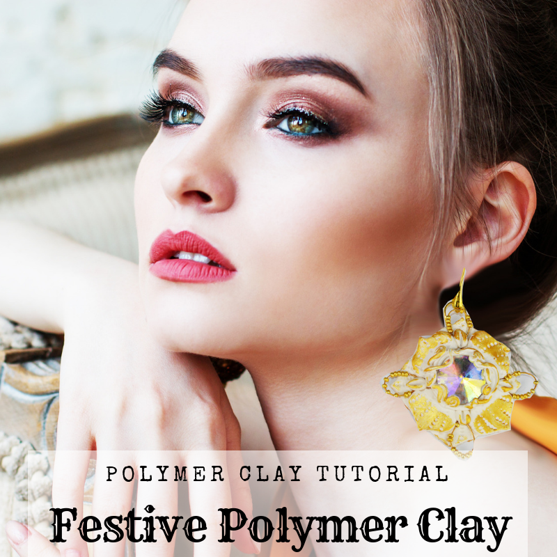 Polymer clay  Christmas Countdown – Day – 7- How to make polymer clay festive earrings