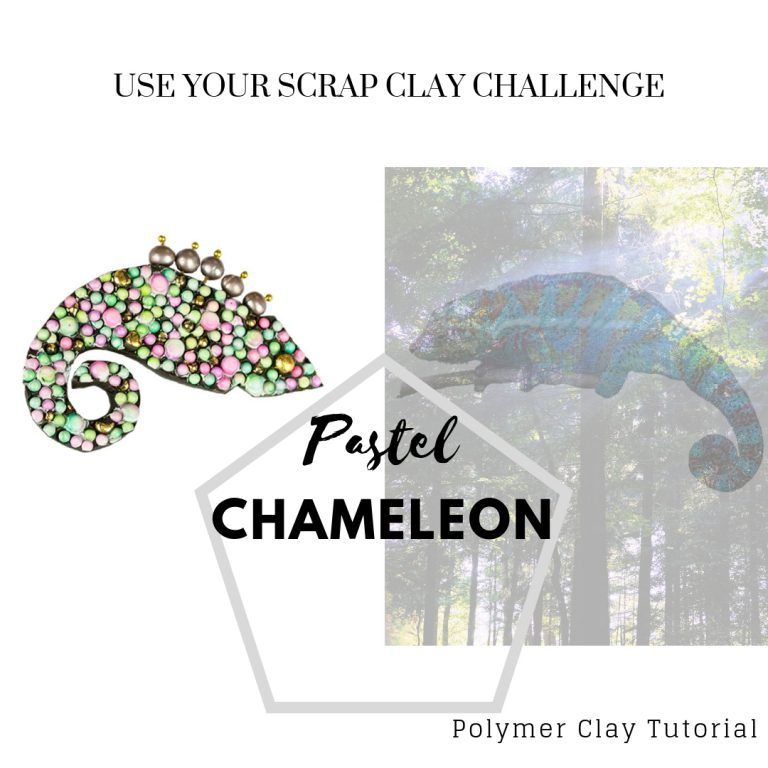 Pastel Chameleon – Use your scrap clay challenge – Day 7