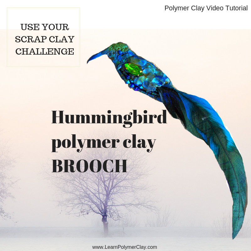 Hummingbird polymer clay video tutorial