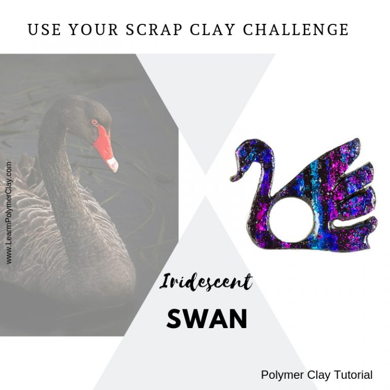 Iridescent swan – Use your scrap clay challenge – Day 7