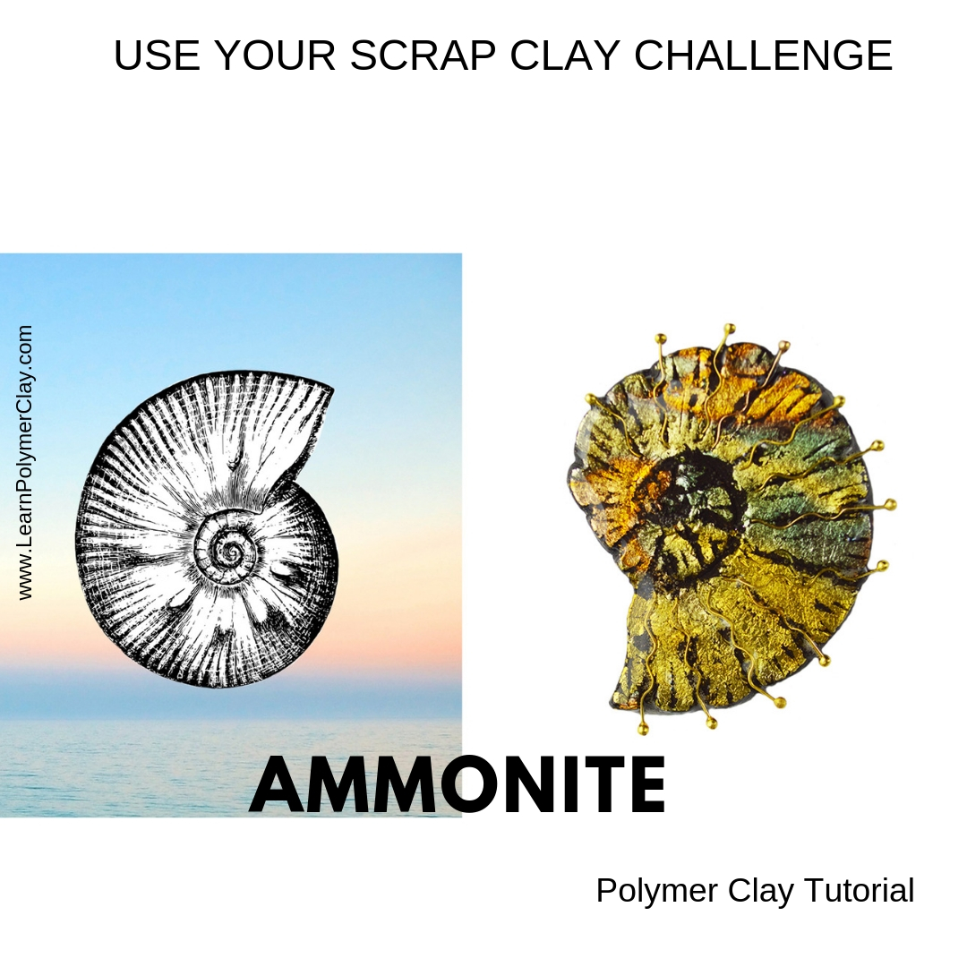 Ammonite Inspired Design – Use your Scrap Clay Challenge – Day 9 – Last day of the Challenge